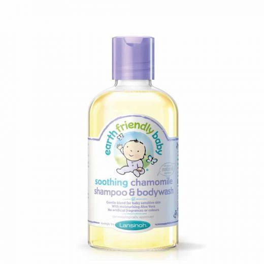 Earth Friendly Baby naravni šampon in tuš gel kamilica