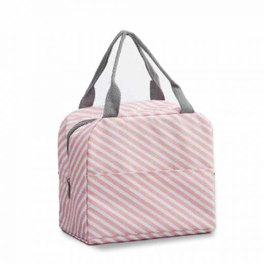 hladilna torbica za malico roza